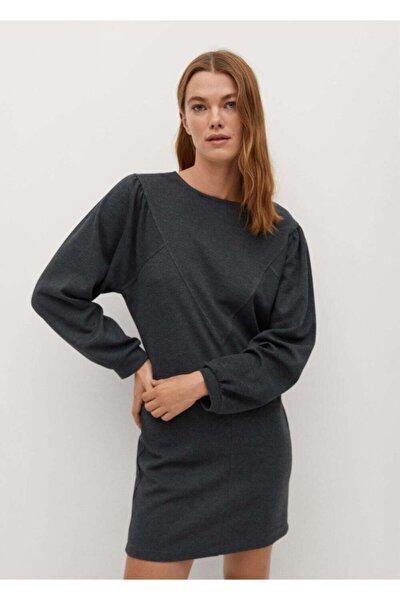 MANGO Woman Kadın Koyu Eflatun Rengi Elbise 77089224