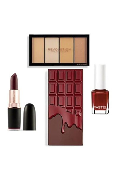 Revolution Fırsat Paketi Cranberries&chocolate+diamond Life Ruj+kontür Paleti +pastel 130