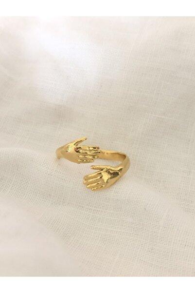 The Y Jewelry Altın Kaplama El Yüzük -ayarlanabilir