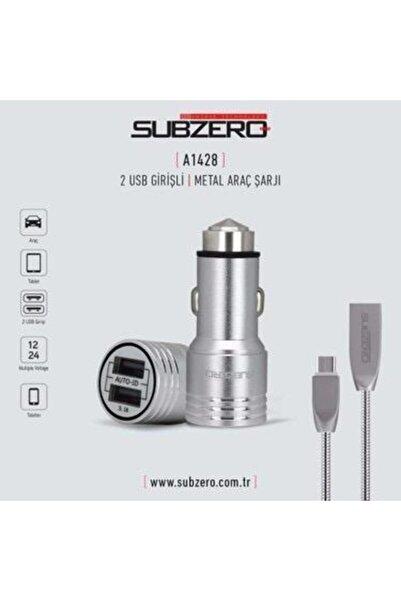 Subzero Metal Micro Usb Araç Şarj Cihazı
