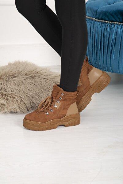 Wenti Shoes Wenti Ws35113 Kadın Günlük Outdoor Bot - Taba Süet