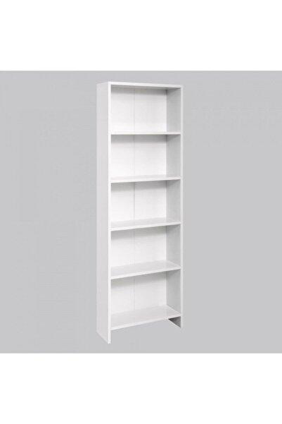Vip Home Beyaz 5 Raflı Modern Kitaplık Vda-020-3