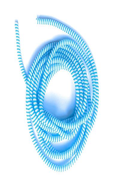 Spelt Mavi Kablo Kordon Koruyucu Spiral Sarma Kılıf Koruma