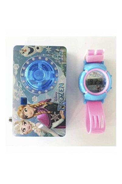 Frozen Disney Karlar Ülkesi Elsa-anna Saat Ve Slaytlı Kamera Set