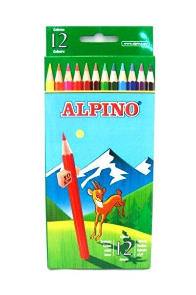 Alpıno Alpino 12 Renk Boya Kalemi Klasik Tüp Uzun Al-654