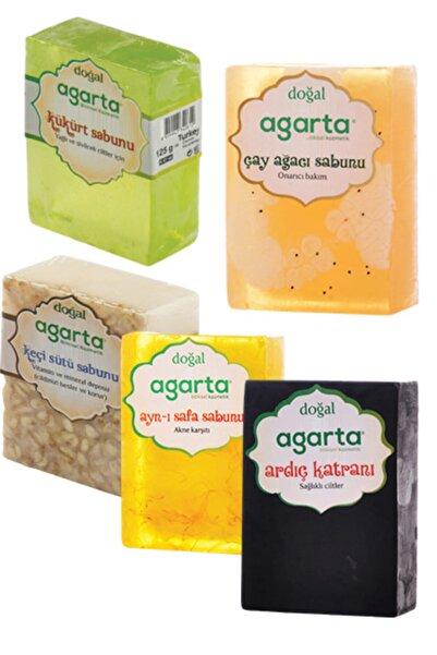 Agarta 5 Li Doğal El Yapımı Sabun Seti(ardıç Katman+kükürt+çay Ağacı+keçi Sütü+aynı Safa)