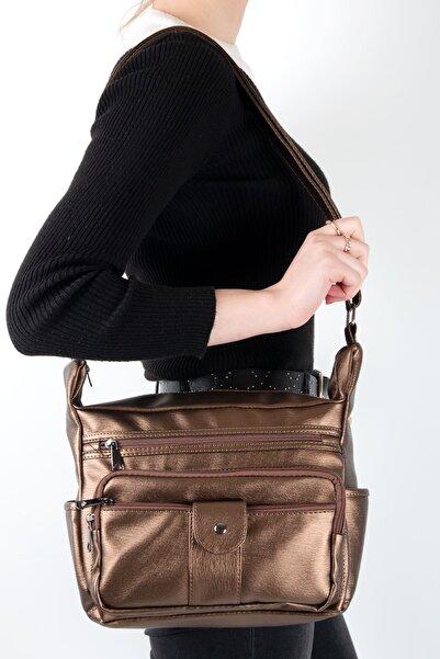 MEGA Kadın Bakır Yıkama Deri Kadın Omuz Çanta