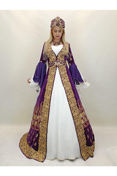 ŞahnurKaftan Kadın Mor Prenses Bindallı