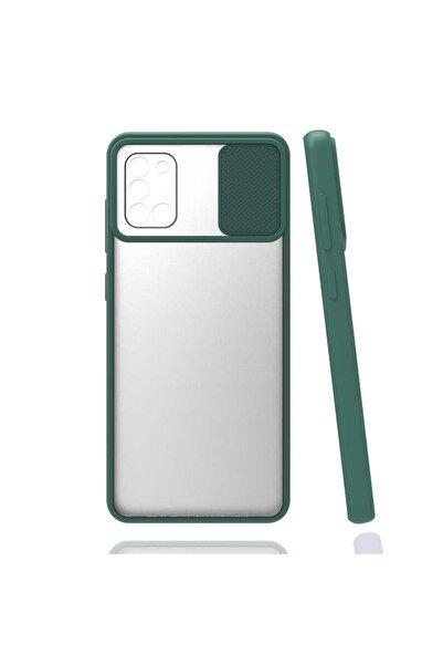 zore Koyu Yeşil Galaxy A31 Kılıf Lensi Kapak