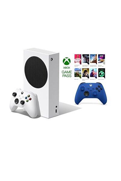 MICROSOFT Xbox Series S 512GB SSD Oyun Konsolu + 1 Kol Mavi + 1 Yıl Live Gold + GamePass