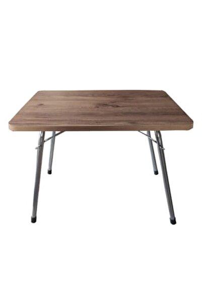 Katlanır Masa Balkon Bahçe Kamp Masası Piknik Masası 45x60 -çam
