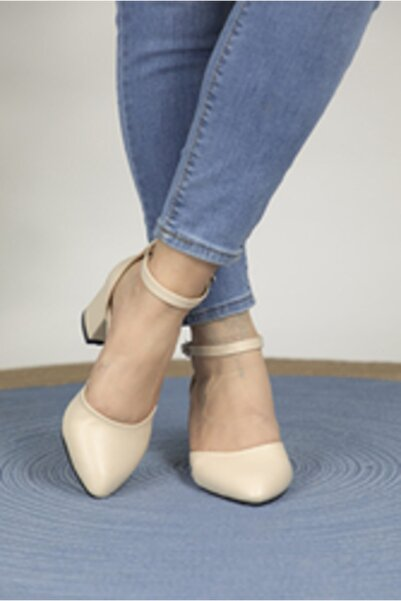 Oioi Kadın Bej Topuklu Ayakkabı 1006-119-0002_1023