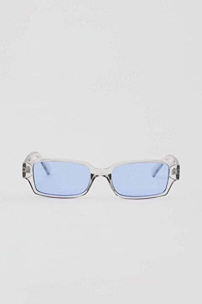 Pull & Bear Erkek Renkli Mavi Camlı Güneş Gözlüğü 04999507