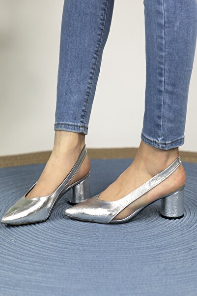 Oioi Kadın Gümüş Topuklu Ayakkabı 1003-119-0002_1011