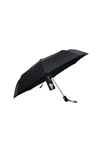 Vardem Unisex Siyah Susino Katlanabilir Şemsiye