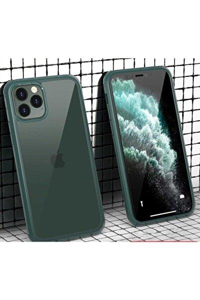 zore Iphone 11 Pro Kılıf Dor Silikon Temperli Cam Kapak