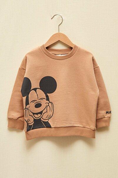 LC Waikiki Mickey Mouse Erkek Bebek Bej Ggk Sweatshirt