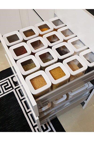 Özc Kitchens Vakum Kapaklı 6'lı Erzak Saklama Kabı Seti(900 ml*6)