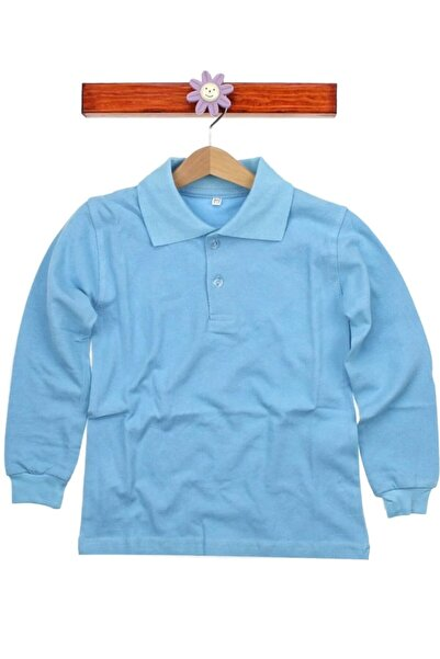Nacar Çocuk Mavi Uzun Kollu Tişört
