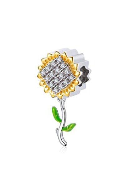 Hobby 925 Ayar Gümüş Papatya Boncuk Orijinal 3mm Kolye Ucu Bileklik Takısı