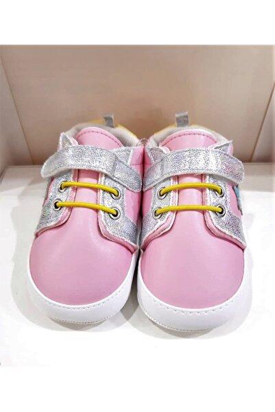 Funny Baby Kız Çocuk Pembe Elegance Simli Patik Ayakkabı