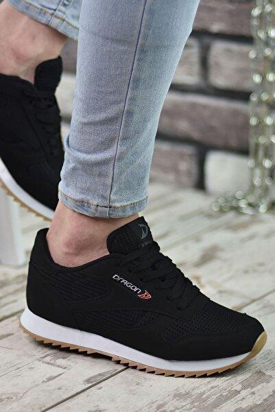 Riccon Siyah Beyaz Krep Unisex Sneaker 00121057