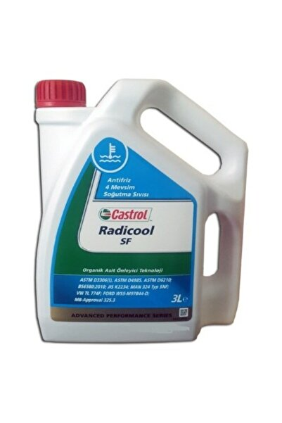 CASTROL Radicool Sf Kırmızı Antifriz 2020- 3 Lt