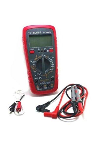 TT Technic Işıklı Dijital Multimetre Ölçü Aleti Dt890dl