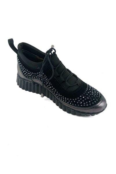 Stella Kadın Siyah Bağcıklı Sneaker