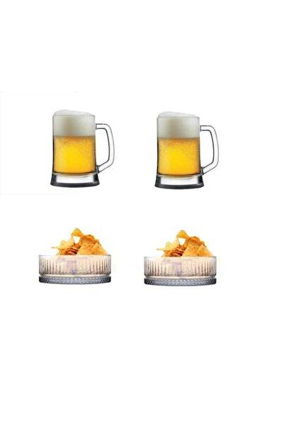 Paşabahçe 4 Parça Bira Ve Çerez