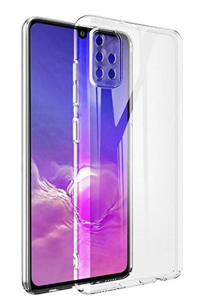 CEPSTOK Samsung Galaxy A51  Şeffaf Silikon Kamera Lens Korumalı Kılıf