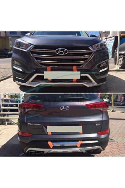 Universal Hyundai Tucson Ön Arka Tampon Koruma Difüzör 2015-2018 Arası