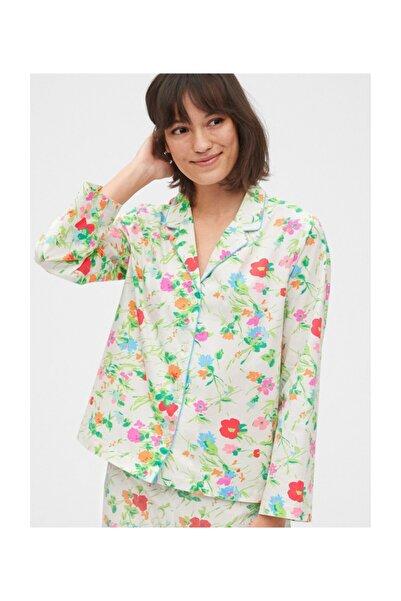 GAP Kadın Poplin Pijama Üstü 539330