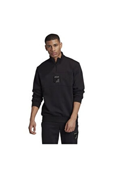 Erkek Siyah Spor Sweatshirt