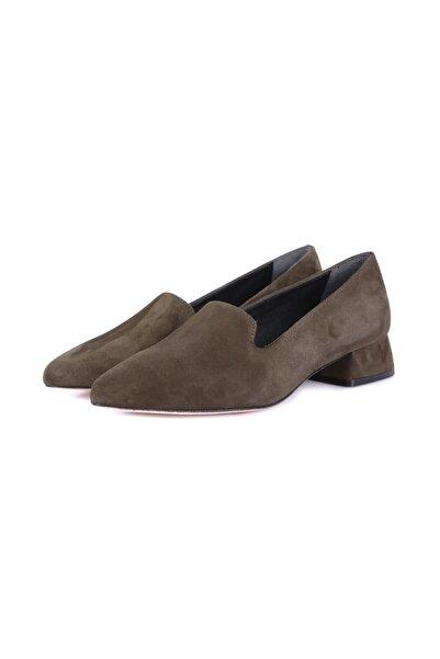 W Collection Kadın Yeşil Klasik Topuklu Ayakkabı
