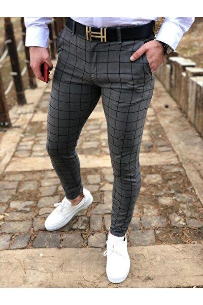 ukdwear Erkek Ekose Kumaş Pantolon