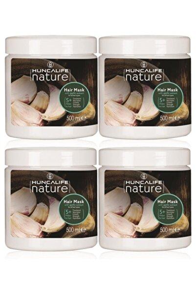 Huncalife Nature Sarımsaklı Saç Bakım Maskesi 500 ml 4 Adet
