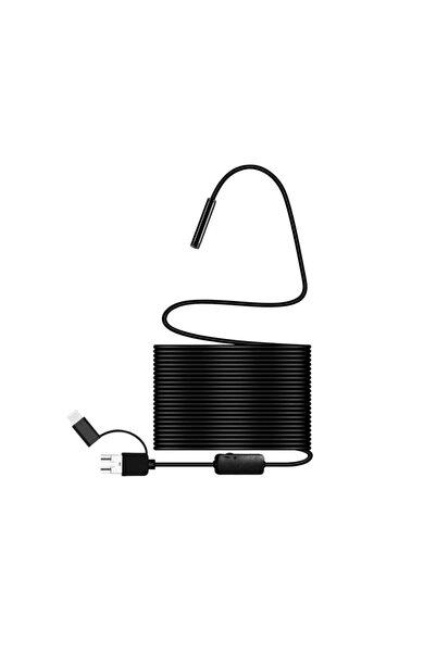 Knmaster Pro Endoskop Boroskop Yılan Kamera 10 metre Sert Kablo