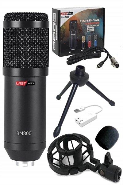 Lastvoice Bm800 Full Black Condenser Youtuber Mikrofon + 7.1 Ses Kartı