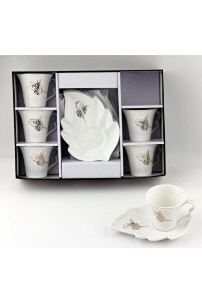 Lavin Tuğralı Yaprak Tabaklı Kahve Takımı 02394