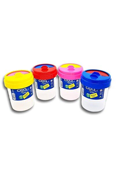 Ceo Art Su0001 Fırça Temizleme Su Kabı Çift Bölmeli Renkli