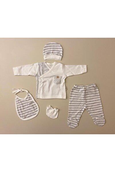 Flexi Unisex Bebek Beyaz Hastane Çıkışı 5'li