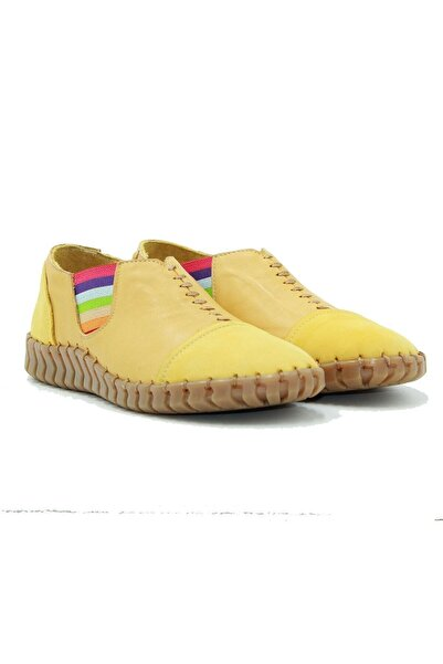 Venüs Kadın Sarı Deri Ayakkabı 2010703y