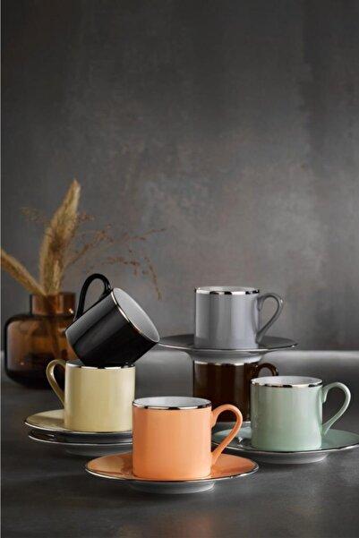 Kütahya Porselen 12 Parça Natürel Kahve Fincan Takımı