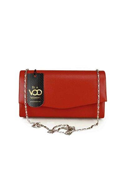 VOO Kadın Kırmızı Süet Mini El Çantası