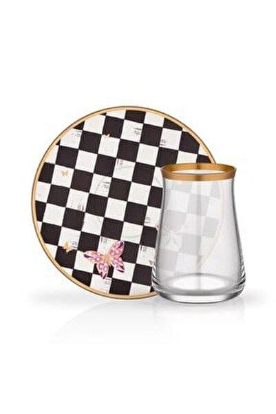 Emma Damalı 6 Kişilik Çay Bardağı Seti
