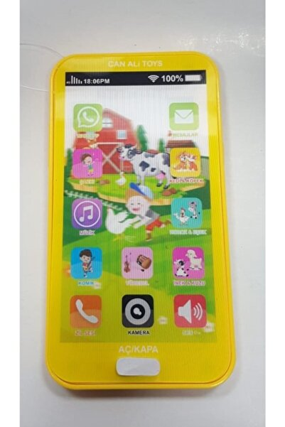 Pasifik Toys Sarı Pilli Işıklı Sesli Akıllı Telefon