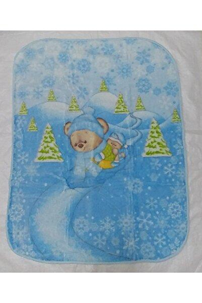 Recos Erkek Bebek Mavi Peluş Battaniye