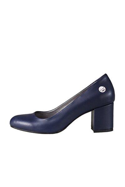 Mammamia Kadın Lacivert  Topuklu Ayakkabı