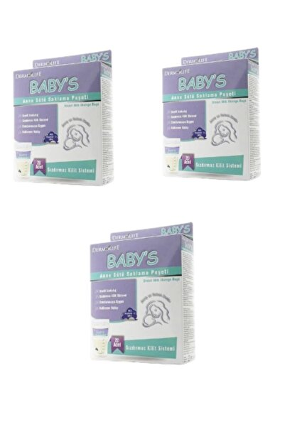 Dermolife Baby S Anne Sütü Saklama Poşeti 3 Adet